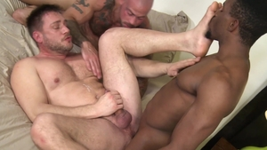 PrideStudios.com: Clay Towers with Hans Berlin bareback facial