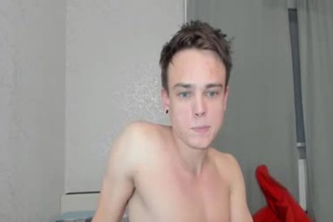 fashionable young lad With Blue Eyes Stroking His knob In webcam